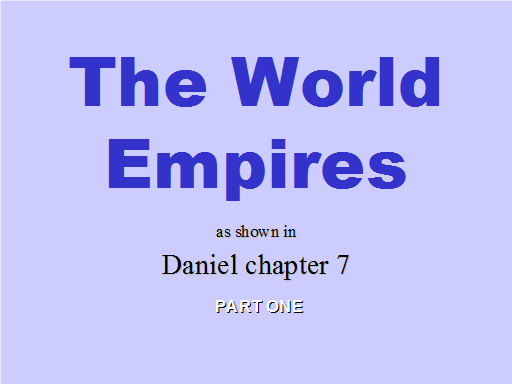 Daniel 07 - Part 1 - Slide 01