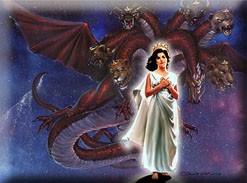 Woman and Dragon