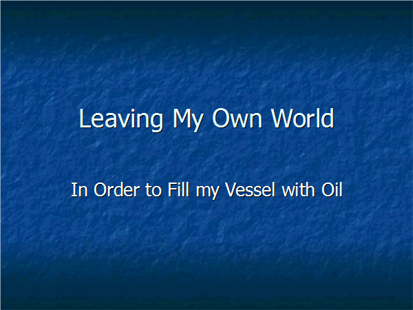Leaving Our Own World - Slide01