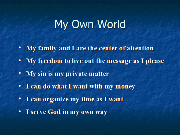 Leaving Our Own World - Slide04