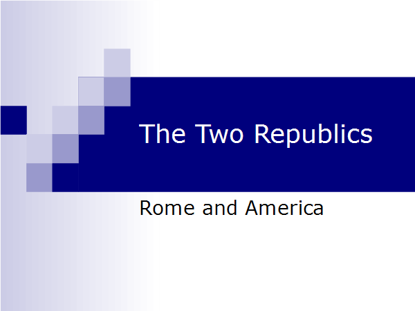 The Two Republics - Slide01